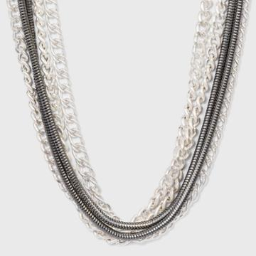 Multi Layer Thick Chained Necklace - Universal Thread Worn