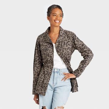 Women's Jacket - Knox Rose Gray Leopard Print