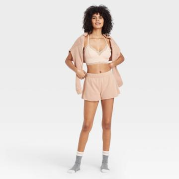 Women's Fleece Lounge Shorts - Colsie Brown