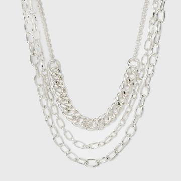 Multi Row Layered Chain Linked Necklace - A New Day