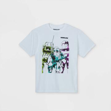 Girls' Roblox Short Sleeve T-shirt - White