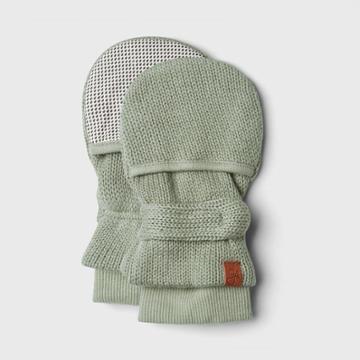 Goumikids Goumi Baby Organic Cotton Knit Mittens - Light Gray