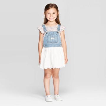 Oshkosh B'gosh Toddler Girls' Eyelet - Jumper Blue