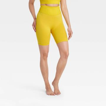 Women's Contour Flex Ultra High-rise Bike Shorts - All In Motion Antique Gold