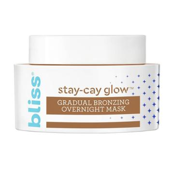 Bliss Stay-cay Glow Gradual Bronzing Overnight Mask - 1.7 Fl Oz, Adult Unisex