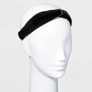 Velvet Headwrap - A New Day Dark Black