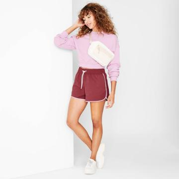 Women's Woven Dolphin Shorts - Wild Fable Burgundy