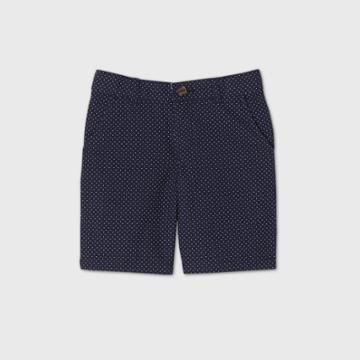 Boys' Flat Front Polka Dots Chino Shorts - Cat & Jack Navy/white