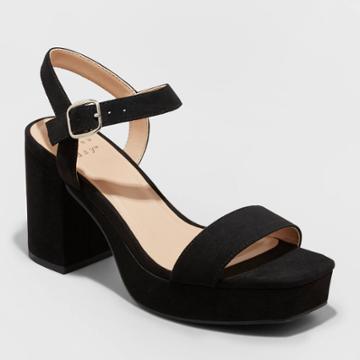 Women's Zoey Heels - A New Day Black