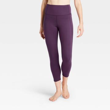 Women's Contour Power Waist High-rise 7/8 Leggings With Stash Pocket 25 - All In Motion Violet Xs, Women's, Purple