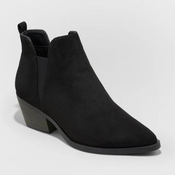 Women's Sylvie Ankle Boots - Universal Thread Black