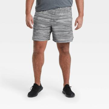 All In Motion Men's 7 Spacedye Print Unlined Run Shorts - All In