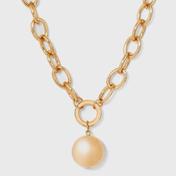 Chain Ball Pendant Necklace - A New Day Gold
