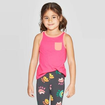 Toddler Girls' Solid Wintex Tank Top - Cat & Jack Pink