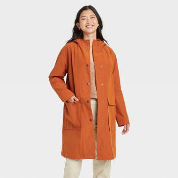 Women's Rain Coat - A New Day Rust