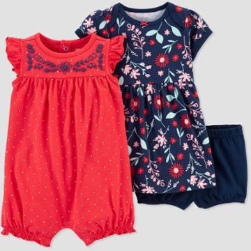 Baby Girls' 2pk Poppy Floral Dress Set - Just One You Made By Carter's Poppy Pink Newborn, Girl's