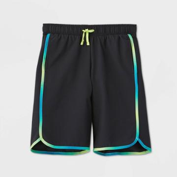 Boys' Quick Dry Board Shorts - All In Motion Black