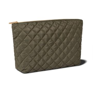 Sonia Kashuk Large Travel Pouch - Green Quilt