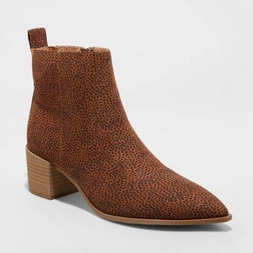 Women's Kennedy Ankle Boots - Universal Thread Brown/leopard