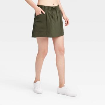 Women's Move Stretch Woven Skorts 16 - All In Motion Olive Green Xs, Women's, Green Green