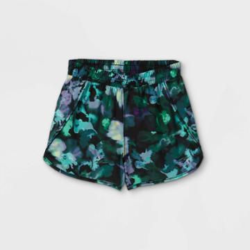 Girls' Run Shorts - All In Motion Green/purple