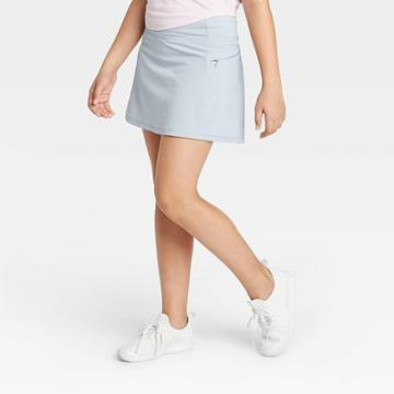 Girls' Stretch Woven Performance Skort - All In Motion Gray