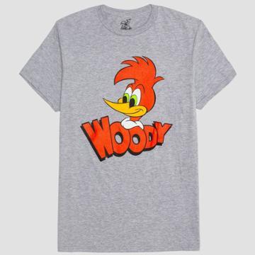 Men's Woody Woodpecker Short Sleeve Graphic T-shirt - Gray Heather - S, Men's,