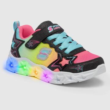 Girls' S Sport By Skechers Paislie Light-up Sneakers - Black