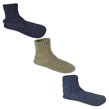 Men's Muk Luks Wool Slipper Socks - Blue L(10-11), Men's, Size: Large (10-11), Blue Blue