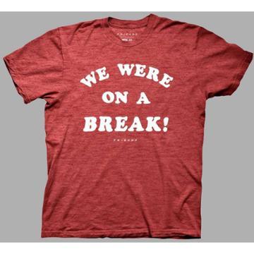 Ripple Junction Men's Friends Short Sleeve Graphic T-shirt - Heather Red S, Men's,