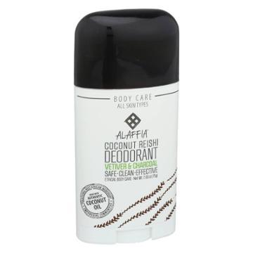 Alaffia Vetiver & Charcoal Coconut Reishi Deodorant - 2.65oz, Adult Unisex