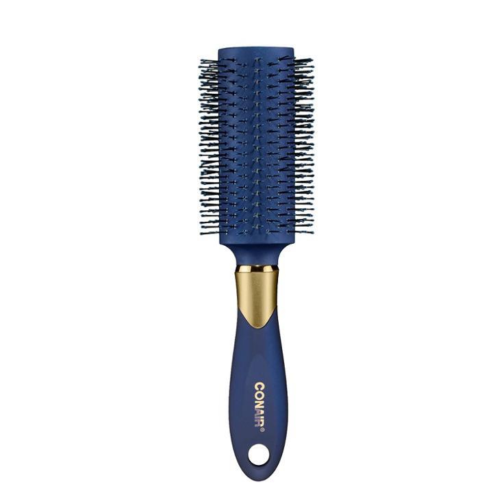 Conair Velvet Touch Large V Bristle Nylon Round Brush-navy, Blue