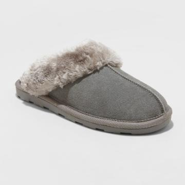 Gilligan & O'malley Women's Chandra Scuff Slipper Grey