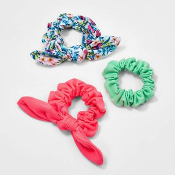 Girls' 3pk Scrunchies With Tail - Cat & Jack
