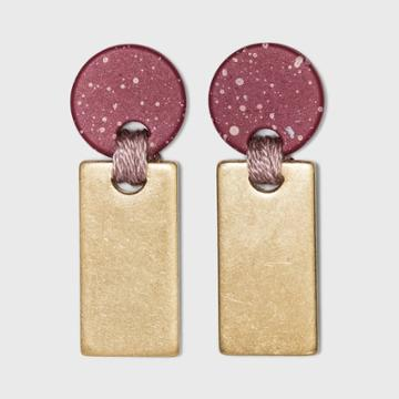 Speckled Disc And Bar Drop Earrings - Universal Thread