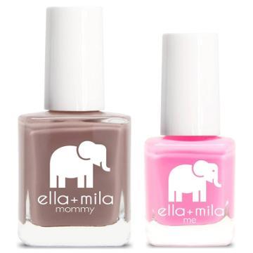 Ella+mila Mommy&me Nail Polish Set Cup O' Latte + Pinkerest - 0.69 Fl Oz, Adult Unisex, Cup O' Latte + Pinkerest