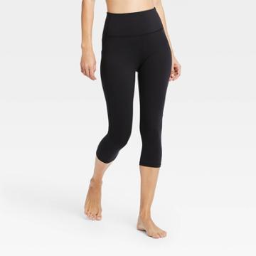 Women's Contour Curvy High-rise Capri Leggings With Power Waist 20 - All In Motion Black