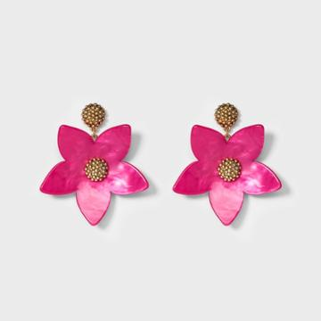 Sugarfix By Baublebar Sugarfix By Bauble Bar Flower Drop Earrings - Pink, Girl's