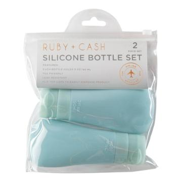 Ruby+cash Blue Silicone Bottle