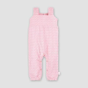 Burt's Bees Baby Baby Girls' Organic Cotton World Chevron Jumpsuit - Pink