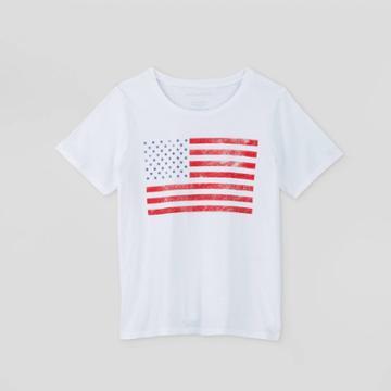 Women's Plus Size Flag Short Sleeve Graphic T-shirt - Grayson Threads (juniors') - White