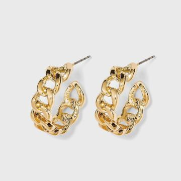 Small Linked Hoop Earrings - A New Day Gold