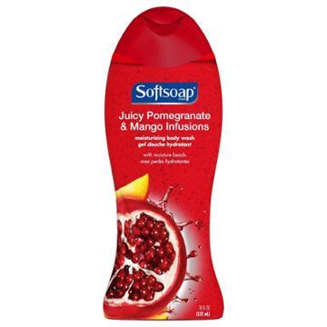 Softsoap Juicy Pomegrante & Mango Infusions Moisturizing Body Wash
