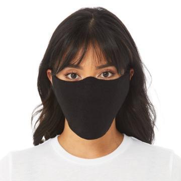Bella+canvas Bella Canvas Adult 10pk Single-ply Fabric Face Masks - Colors May Vary, Black