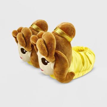 Kids' Disney Belle Slide Slippers - Yellow 5-6 - Disney