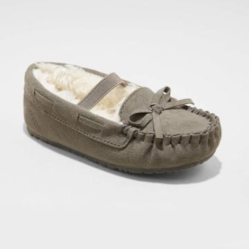 Toddler Girls' Celina Moccasin Slippers - Cat & Jack Gray