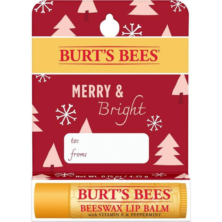 Burt's Bees Merry & Bright Beeswax Lip Balm - Vitamin E & Peppermint