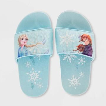 Girls' Disney Frozen 2 Flip Flop Sandals - Blue 7-8 - Disney Store, Girl's,