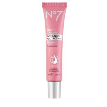 No7 Restore & Renew Face & Neck Multi Action Serum - 1 Fl Oz