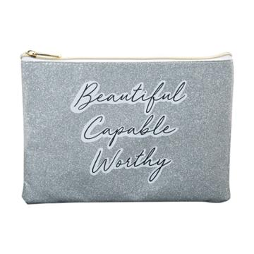 Ruby+cash Glitter Beautiful Capable Makeup Pouch - Worthy Purple